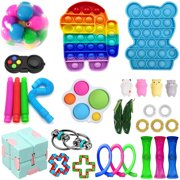 Loliuicca Sensory Fidget Toys Pack for Kids or Adults Figetget Toys Pack Hand Toys Stress Anxiety Relief