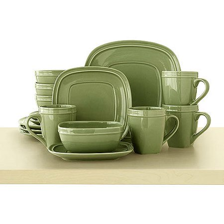 Canopy Soft Square 16-Piece Dinnerware Set, Assorted Colors ...