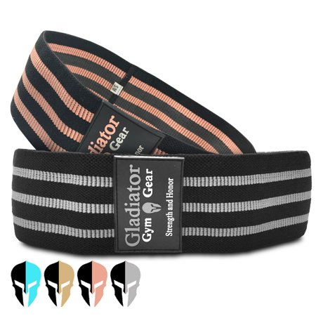 BOOTY GLUTE CLOTH RESISTANCE HIP BANDS - Non Slip - Thick Fabric SQUAT BAND - 2 Pack - for Workout, Exercise, & Fitness. G3 HIP THRUSTER LOOP BANDS are Great Resistant Bands for LEGS and (Best Non Weight Bearing Exercise)