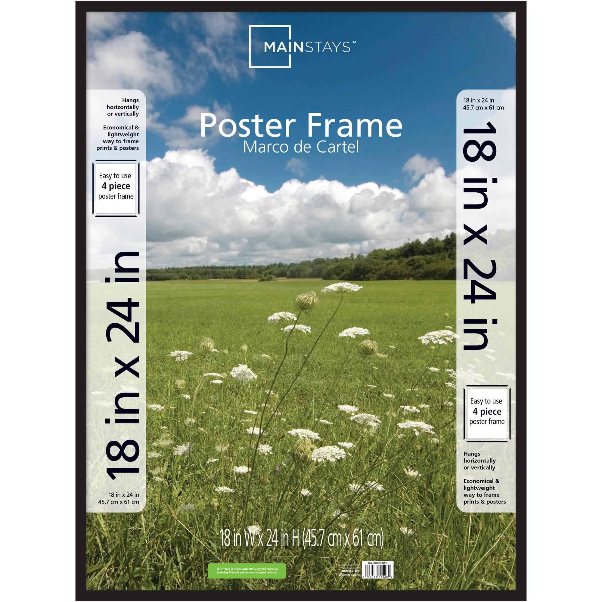 """Mainstays 18""""x24"""" Basic Poster Frame, Black"""