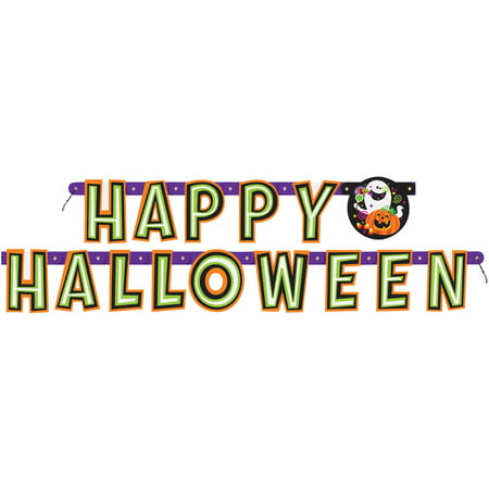 Happy Halloween Banner, 5.5 ft, - Vector Halloween Banner