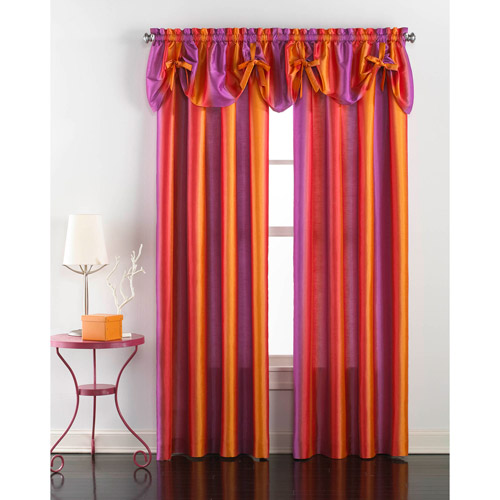 CHF & You Rainbow Ombre Girls Bedroom Curtain Panel/Valance