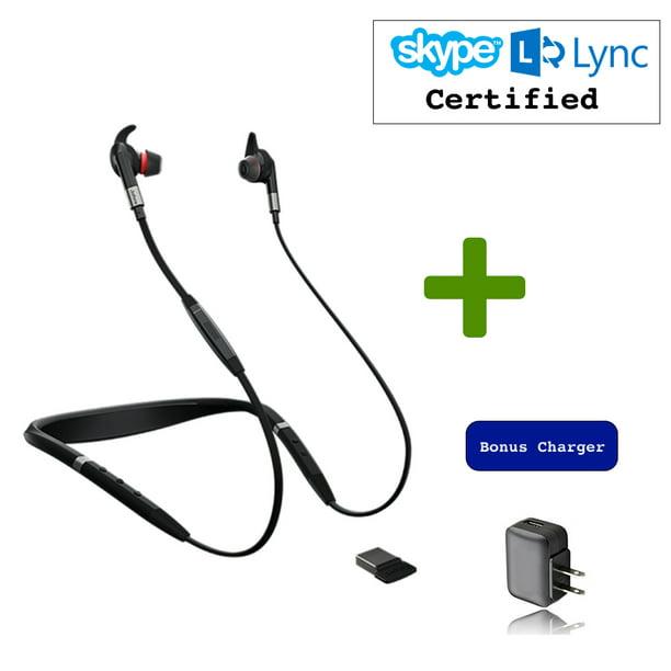 Jabra Evolve 75e Bluetooth Headset Usb Bundle Voip Communications Windows Pc Mac Smartphone Streaming Music Avaya Skype Cisco Bria Includes Bonus Charger Ms Version Walmart Com Walmart Com