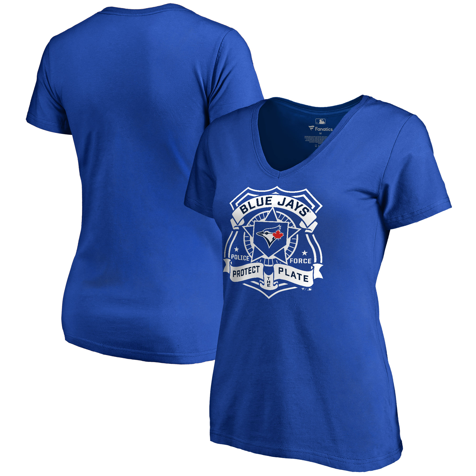 Toronto Blue Jays Women's Police Badge T-Shirt - Royal