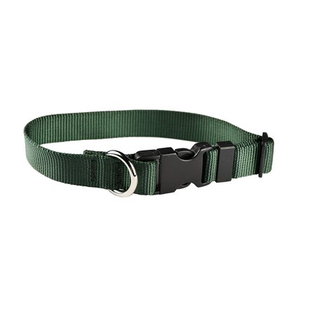 Classic Adjustable Dog Collar: Large, Forest Green, 1 inch Nylon by Moose Pet Wear 1' Adjustable Large Dog