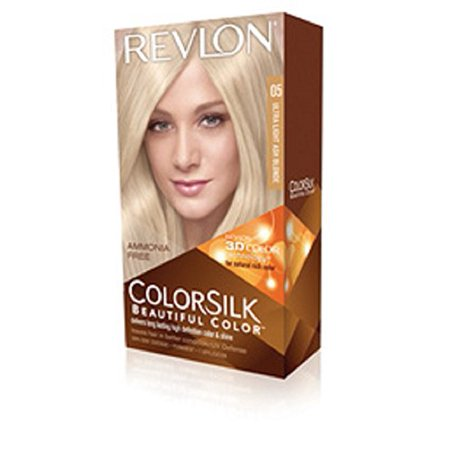 Temporary Blonde Hair Color Halloween (Revlon ColorSilk Beautiful Permanent Hair Color (05) Ultra Light Ash)