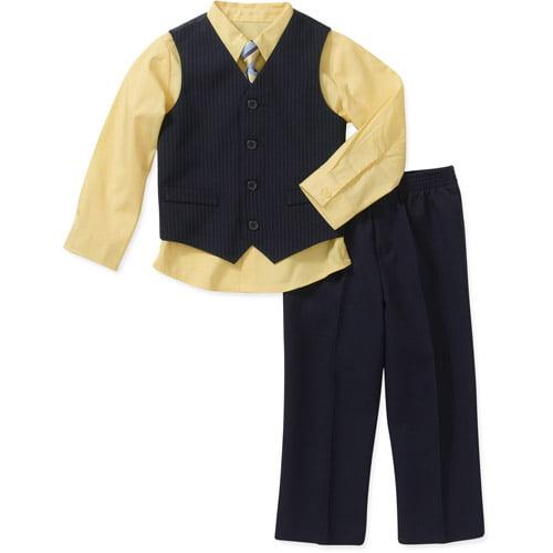George Baby Toddler Boys' 4-Piece Vest Set