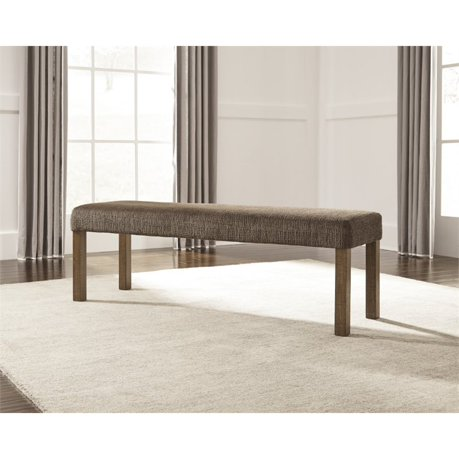 Ashley tamilo large upholstered bench in dark brown for Meuble ashley circulaire