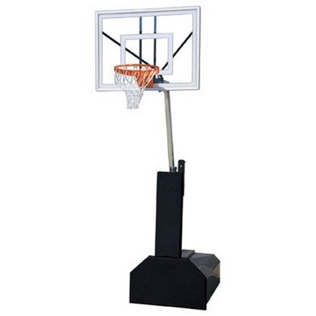 Navy Blue Team Ball - First Team Thunder Ultra Steel-Glass Portable Basketball System44; Navy Blue