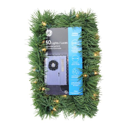 12 X 3 Pre Lit Green Pine Indoor Outdoor Artificial Christmas Garland Clear Lights