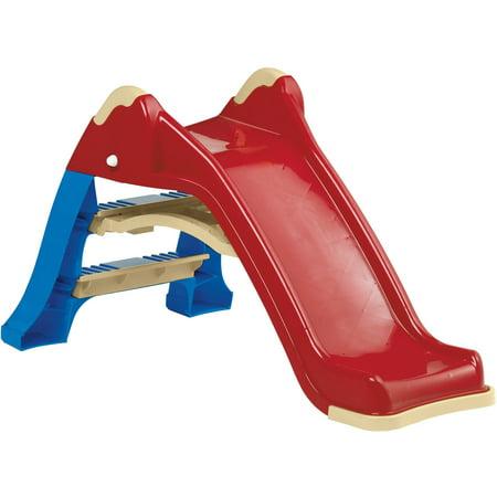 american plastic toys indoor outdoor folding slide walmart com