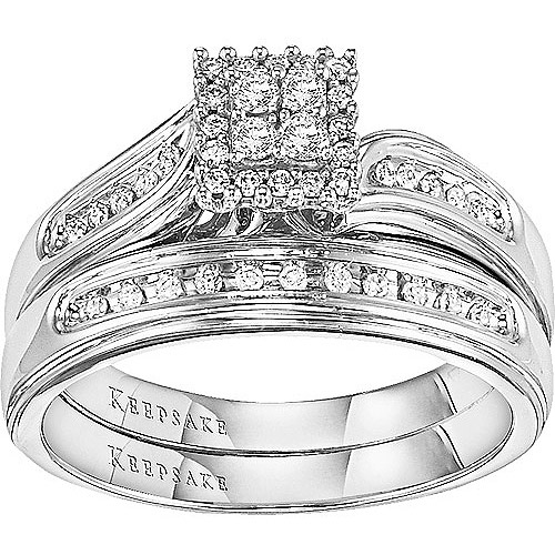 Keepsake After All 1/4 Carat T.W. Diamond 14kt White Gold Diamond Set