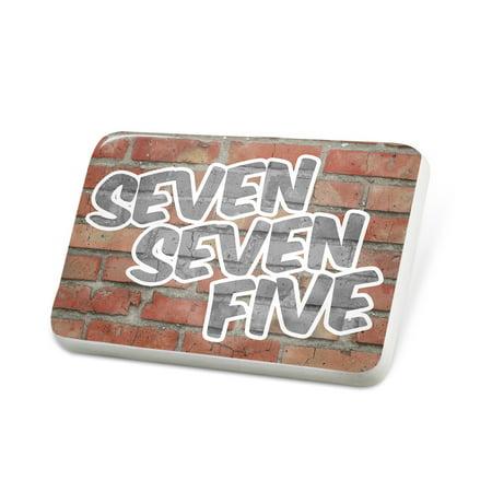 Porcelein Pin 775 Reno, NV brick Lapel Badge – NEONBLOND ()