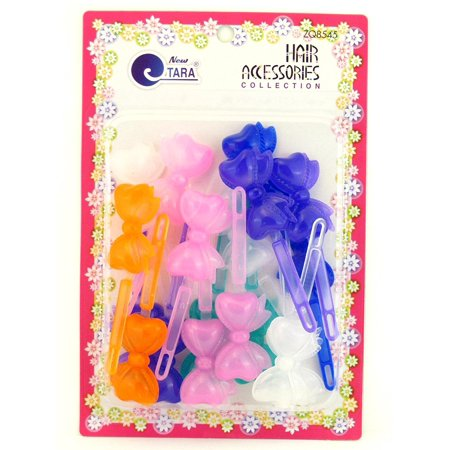 Girls Self Hinge Bow Hair Barrettes - 18 Pcs., Designed To Keep Hair In Place & Out Of Your Face By Tara Ship from US