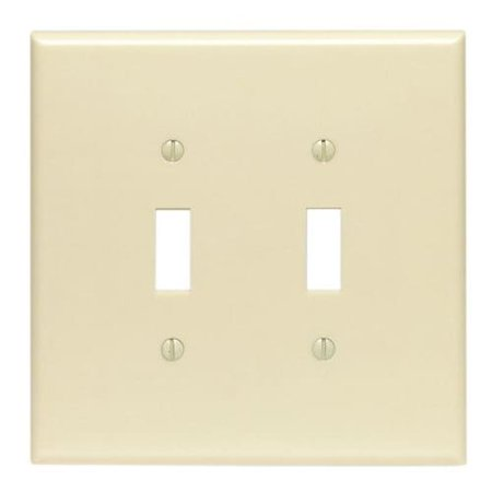 Leviton  001-86109 Double Gang Ivory Double Toggle Wallplate