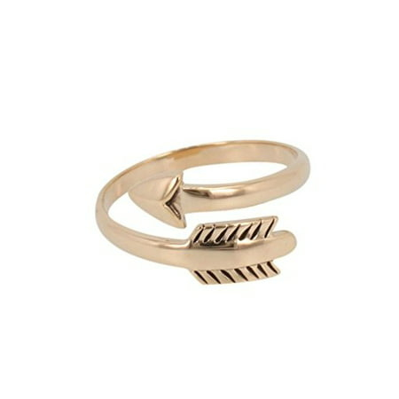 Bronze Ring - Arrow Ring Adjustable Wrap Style in Bronze, #7154-brz