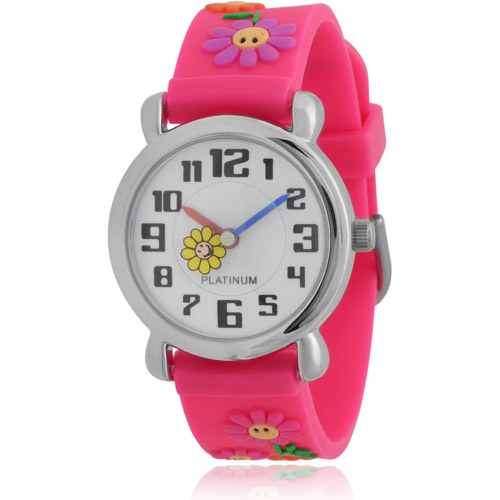 Brinley Co. Girls' Flower Silicone Watch