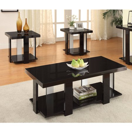 Furniture of America Rankin Contemporary 3-Piece Coffee and End Table Set, Multiple Colors Contemporary Set Game Table