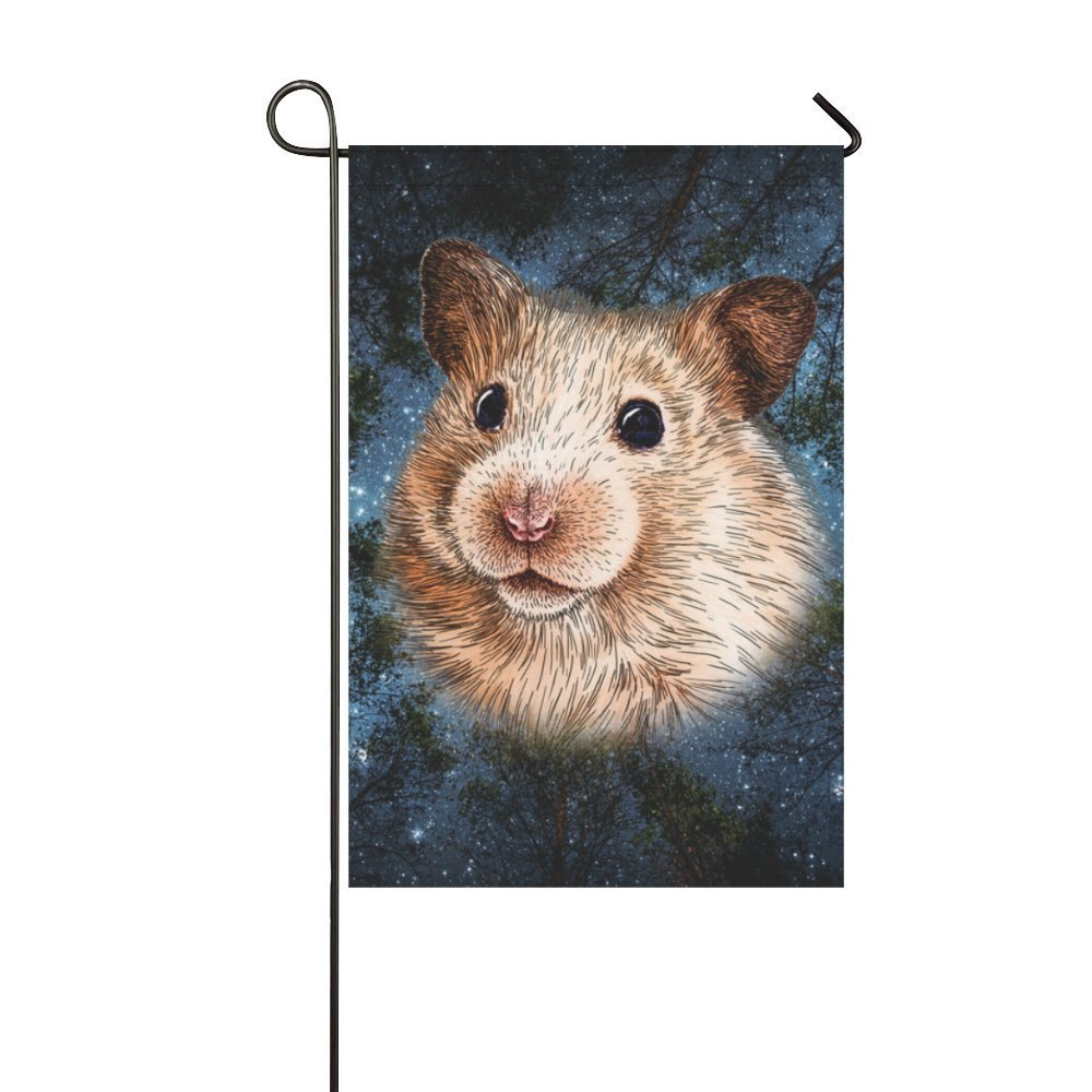 MYPOP Animal Marmots in Star sky Around Tresss Garden Flag 12x18 inches by MYPOP