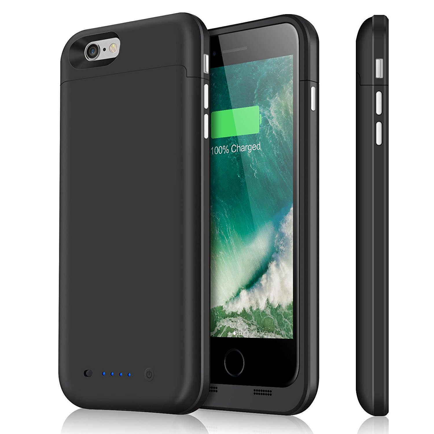 iPhone 6 plus Battery Case & iPhone 6s plus Battery Case, Upgraded 6800mAh External Charger Case Protective Juice Pack Portable Power Case for iPhone 6s plus 6 plus (5.5inch)-Black
