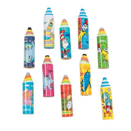 Dr. Seuss(TM) Crayon Erasers](Erasers And Crayons)