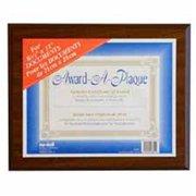 Nudell Plastics NUD18811M Award Plaques- Horizontal-Vertical- 13inchx10-. 50inch- Walnut