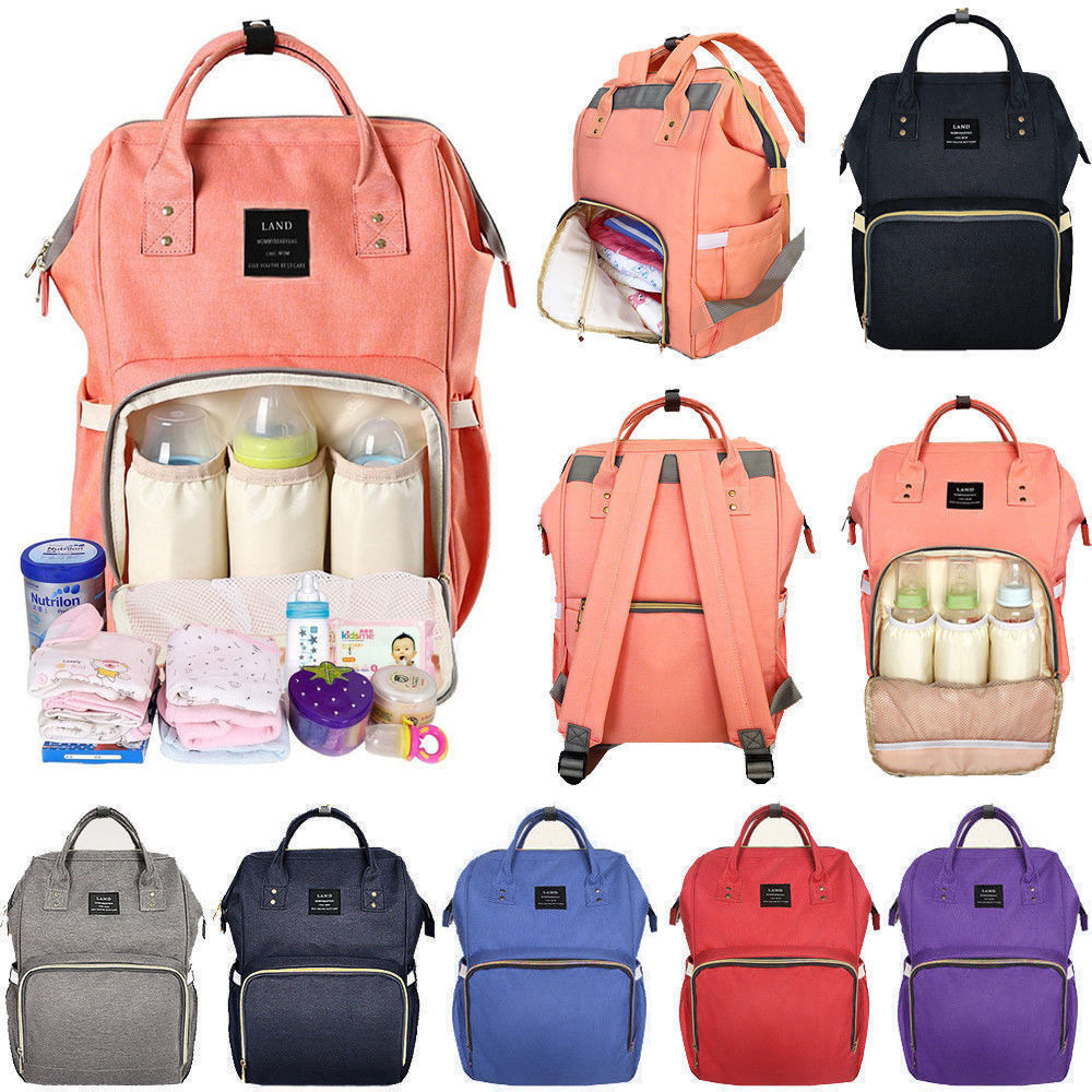 Multifunction Mummy Bag Baby Nappy Diaper Bag Fashion Waterproof Maternity Backpack Large Capacity Blue
