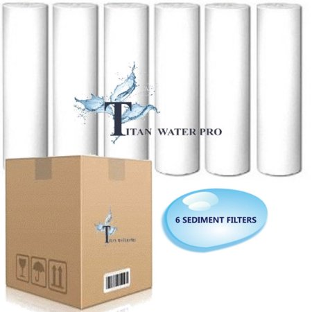 """6 PCS REVERSE OSMOSIS WATER SEDIMENT Filters 5 MICRON - fits standard 10"""" hsng"""