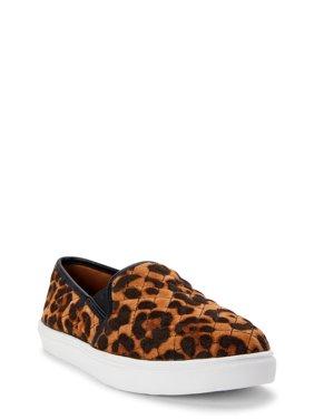 Wonder Nation Leopard Twin Gore Slip-on Sneaker (Little Girls & Big Girls)