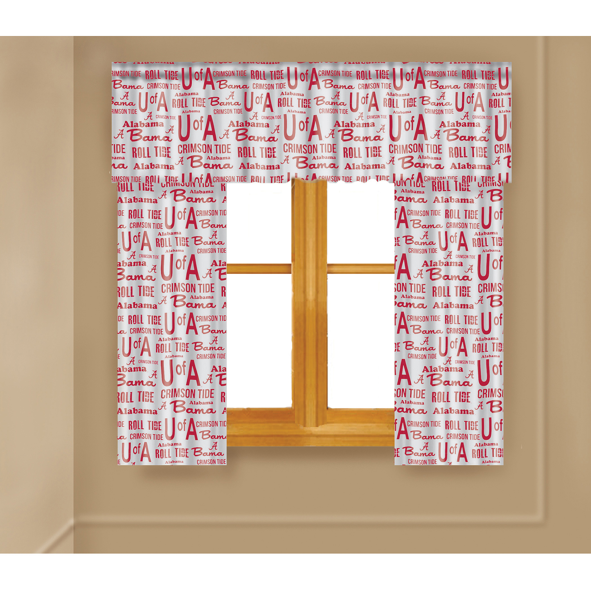 NCAA Alabama Crimson Tide Window Curtain Panels