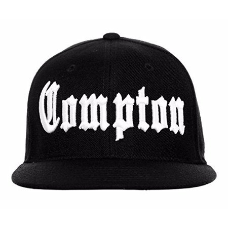 BHFC Compton Flat Bill Fitted Old English Embroidered Baseball Cap Hat - 8  Sizes - Walmart.com 2efa36f20c72