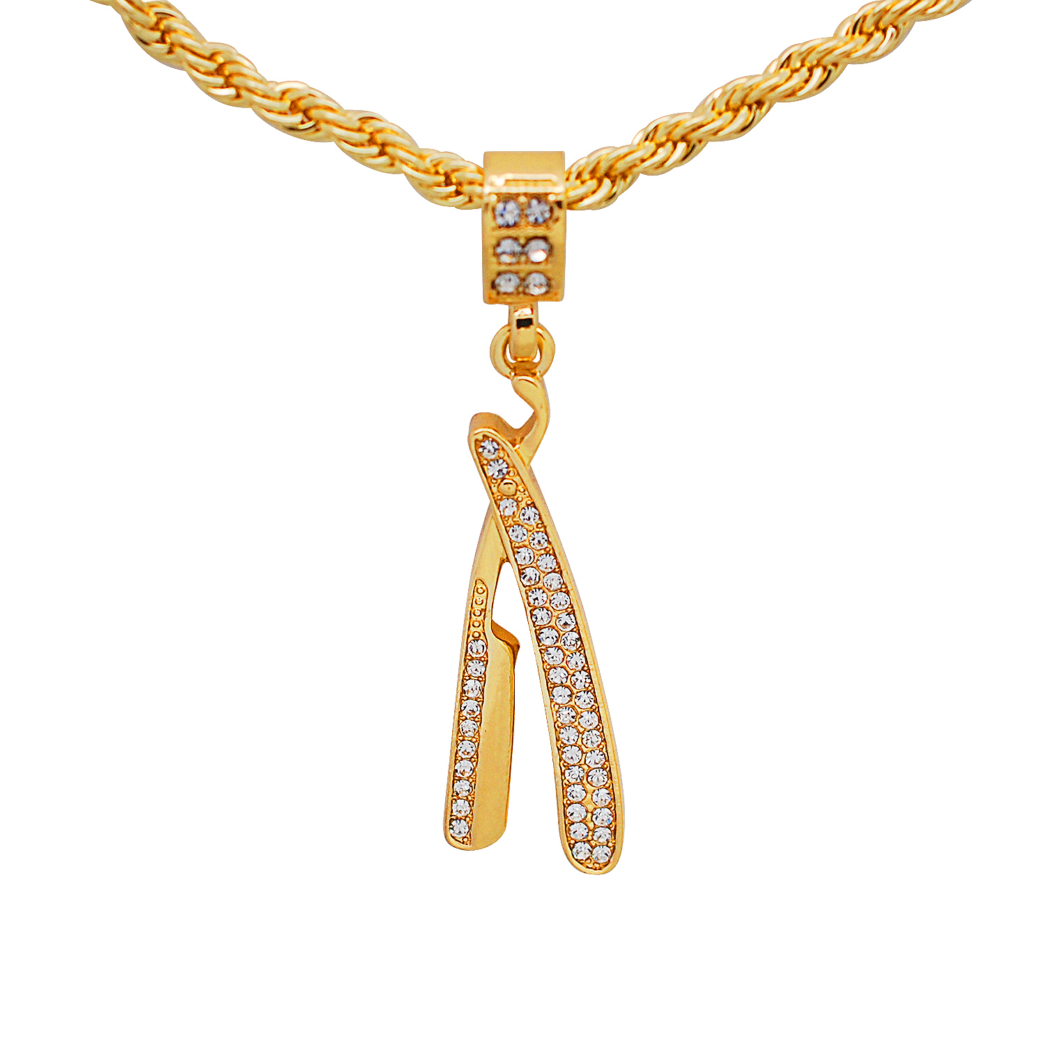 Mia Diamonds 14k Yellow Gold Polished with Created White Opal Flip Flop Pendant