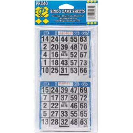 415836 Bingo Game Sheets 4 in. x 8 in. 125-Pkg-250 Games](Halloween Bingo Sheets To Print)