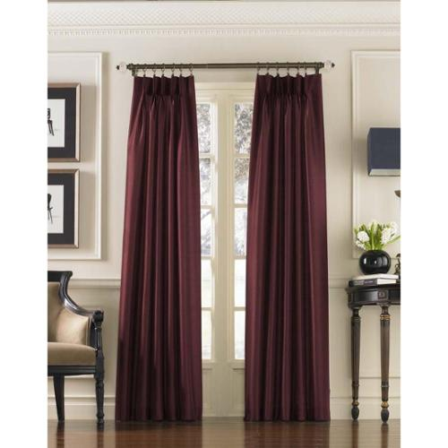 CHF Industries Marquee Faux Silk Pinch Pleat Curtain Panel