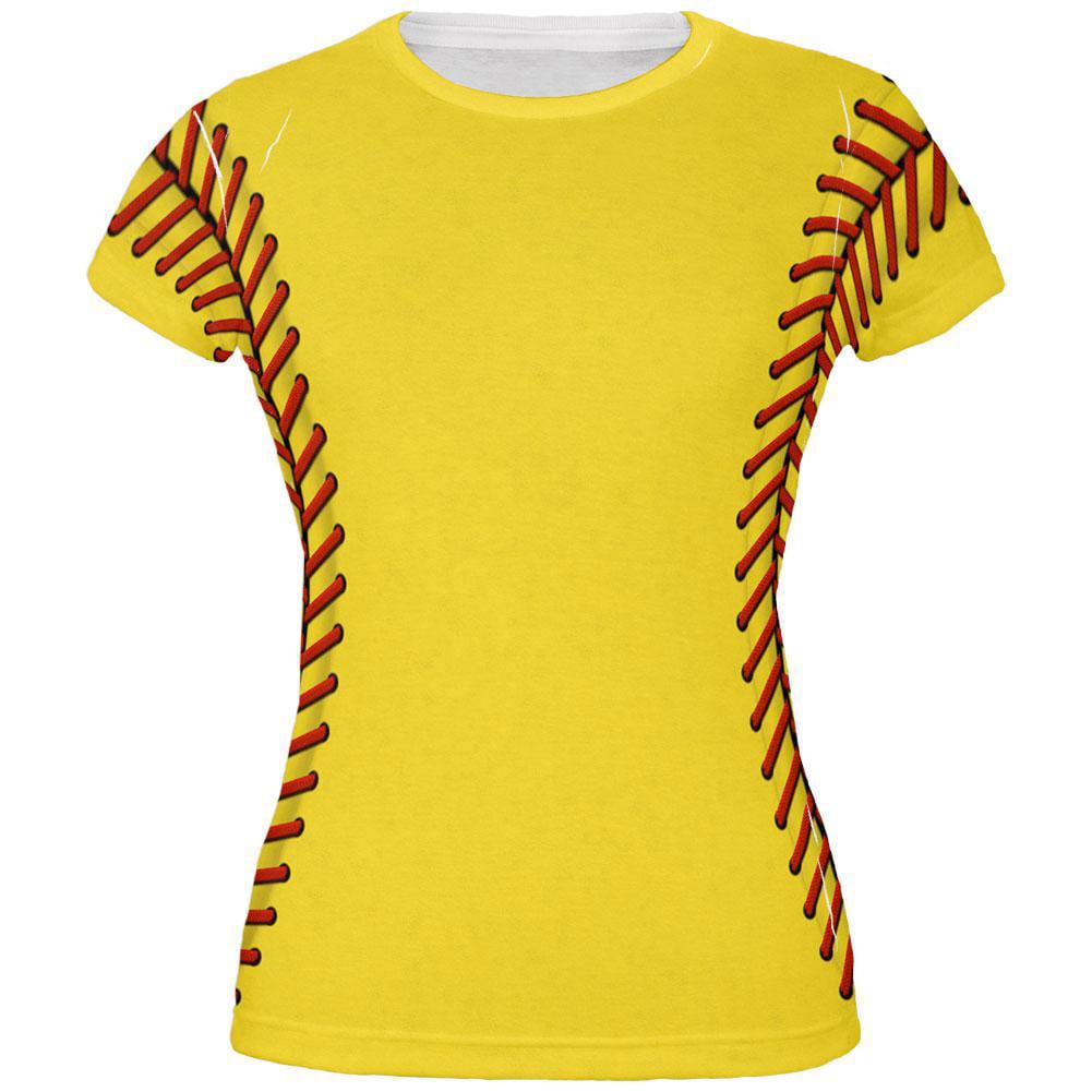 Softball Costume All Over Juniors T-Shirt