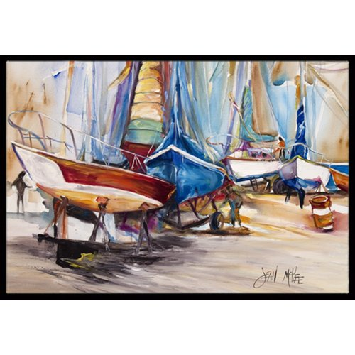 On the Hill Sailboats Doormat by Caroline's Treasures