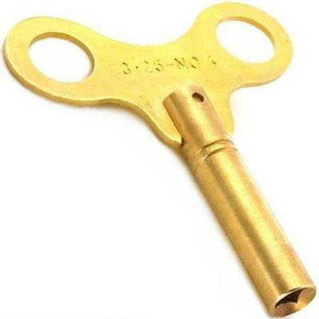 Brass Clock Winding Key Mainspring Winder Sz 4 3.25mm Brass Clock Chart Weight