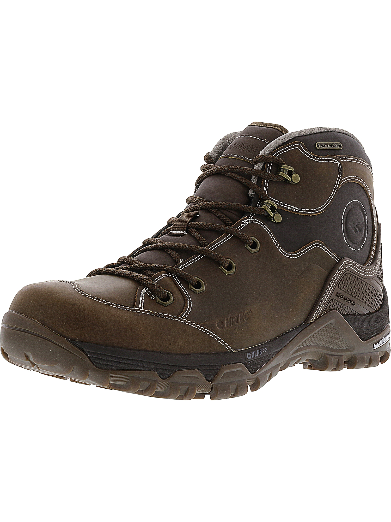 Hi-Tec Men's Ox Discovery Mid I Waterproof Brown High-Top Leather Boot 10.5M by Hi-Tec