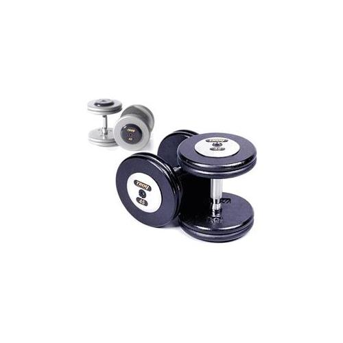Troy Barbell HFDC-27. 5C Pro-Style Dumbbells - Gray Plates And Chrome End Caps - 27. 5 Pounds - Sold as Pairs