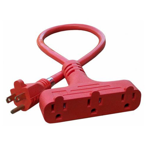3 Outlet Heavy Duty T-Tap Extension Cord