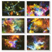 48-Count Assorted Greeting Cards, All Occasion Assortment Bulk Box Set Boxed Blank Card with Envelopes, Unique Cosmos image Cosmic Designs, for Congratulations Thank You Congrats Birthday