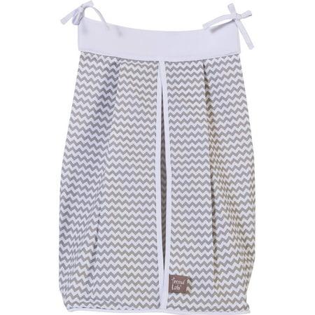 Trend Lab Dove Gray Diaper Stacker