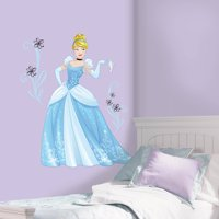 RoomMates Decor Disney Sparkling Cinderella Peel-and-Stick Giant Wall Decals