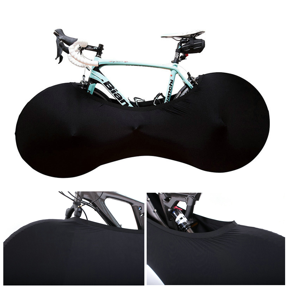 Bike Cover Anti-dust Rainproof Bicycle Wheel Chains Cover Case Storage Protect Bag Indoor Outdoor For 139-170cm
