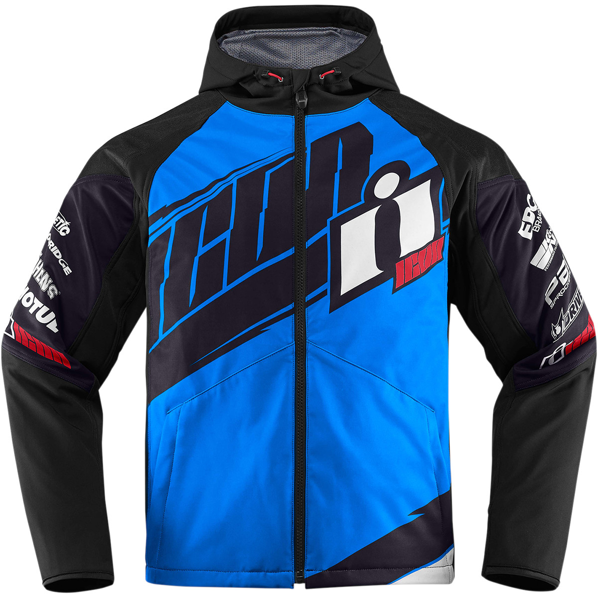 ICON Team Jacket Sport-Riding (Multi Blue, USA SIZE 2X-Large)