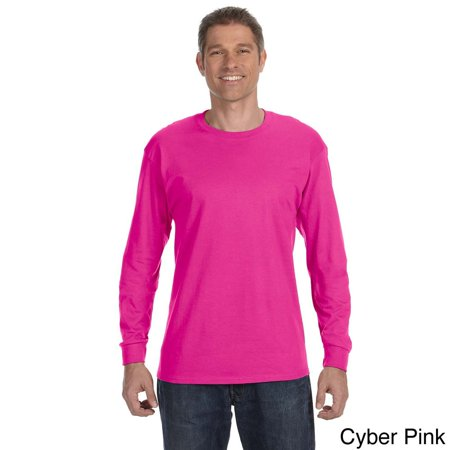 38c635cd9e1 Jerzees - Jerzees Men s 50 50 Heavyweight Blend Long Sleeve T-shirt -  Walmart.com