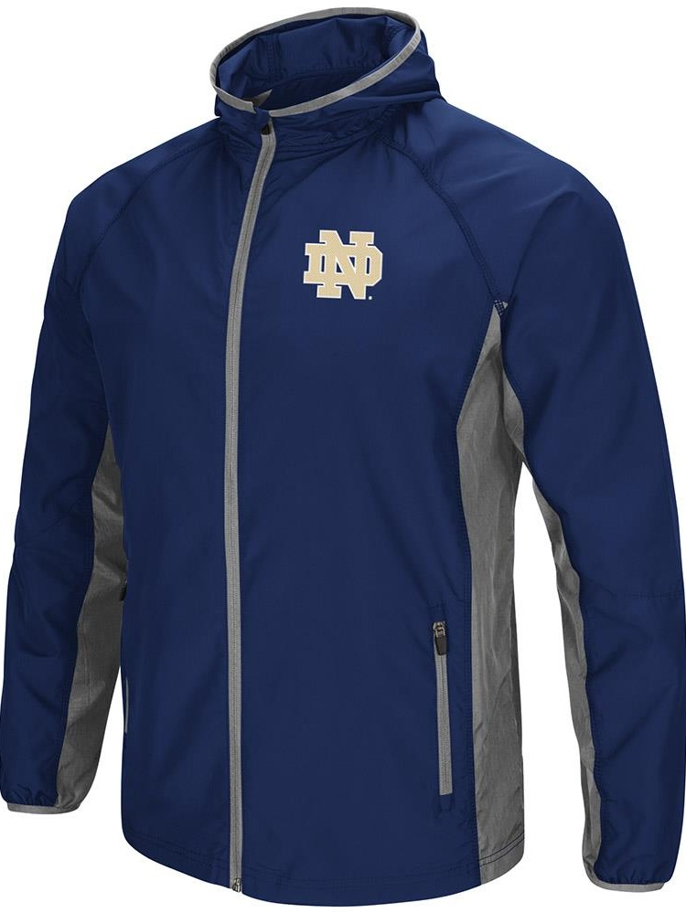 Mens Notre Dame Fighting Irish Full Zip Hooded Jacket by Colosseum