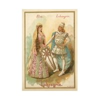 Elsa and Lohengrin, from Richard Wagner's Opera Lohengrin Print Wall Art