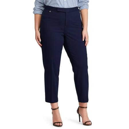 0856e8718f7f1 Lauren Ralph Lauren - Stretch Twill Mid-Rise Skinny Pants - Plus Size - 18W  - Walmart.com