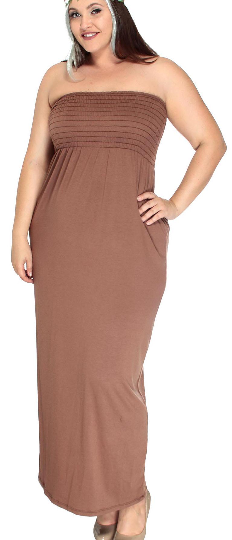 Chocolate Plus Size Dresses